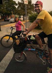 joe ruby and elly on brompton bicycles