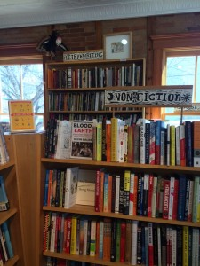 the Nonfiction shelf at ebenezer books