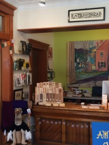 inside ebenezer books in vermont
