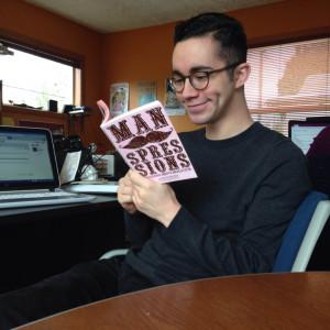 Adam reading Manspressions