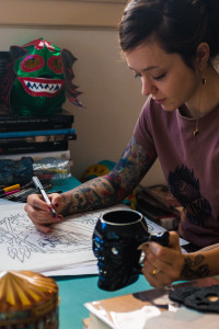 photo of cecilia granata drawing