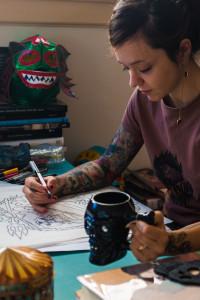 photo of cecilia granata drawing
