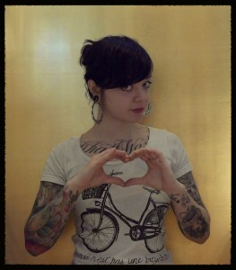 cecilia granata holding her hands in a heart shape