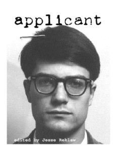 applicant zine cover