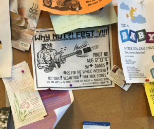 The punk festival. Promoted at the local grocery store.
