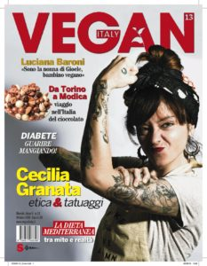 Cecilia Granata on the cover of Vegan Italy Magazine