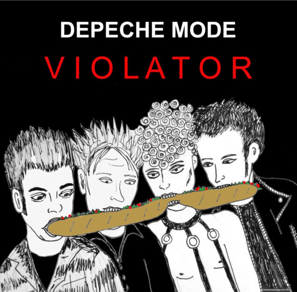 Depeche Mode eating a hoagie
