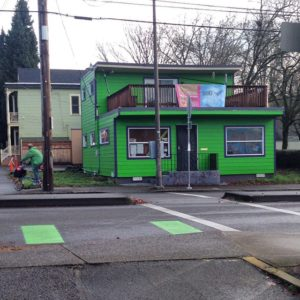 microcosm's green storefront today