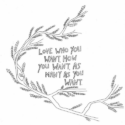 Illustration of a branch with a quote from Sex From Scratch