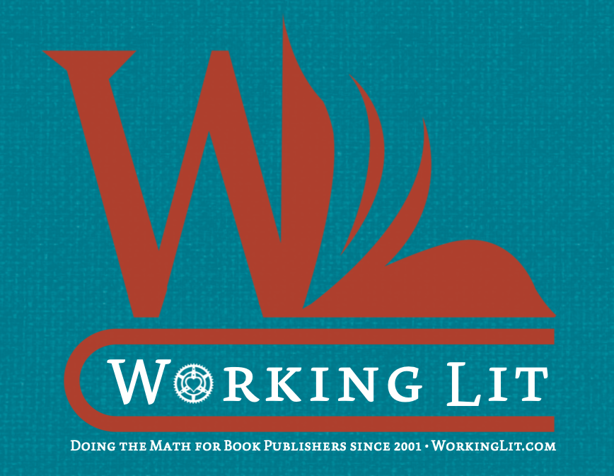 a logo showing an open book