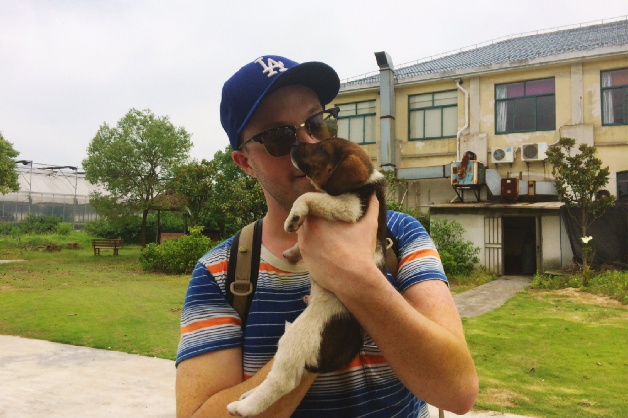 alexander barrett with another puppy