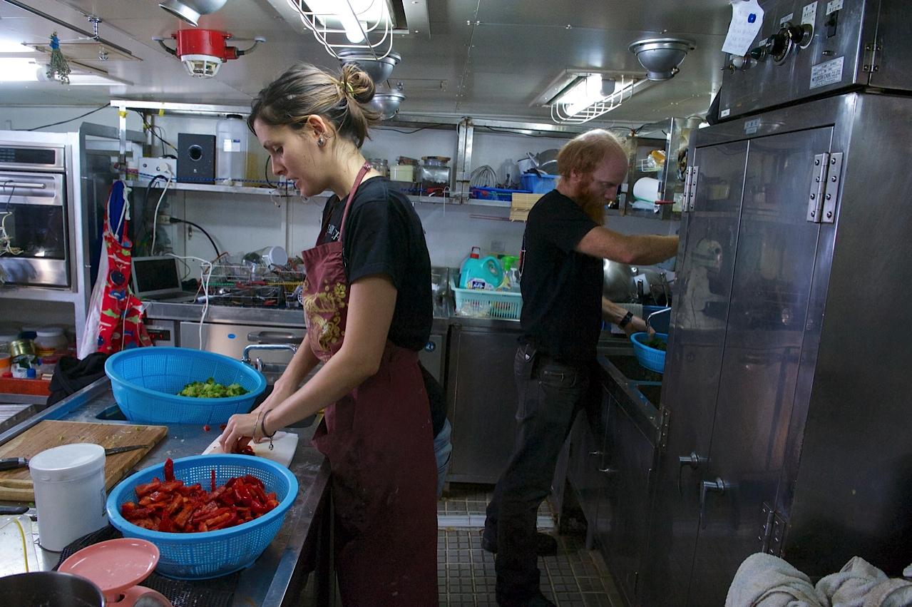 raffa cooking onboard