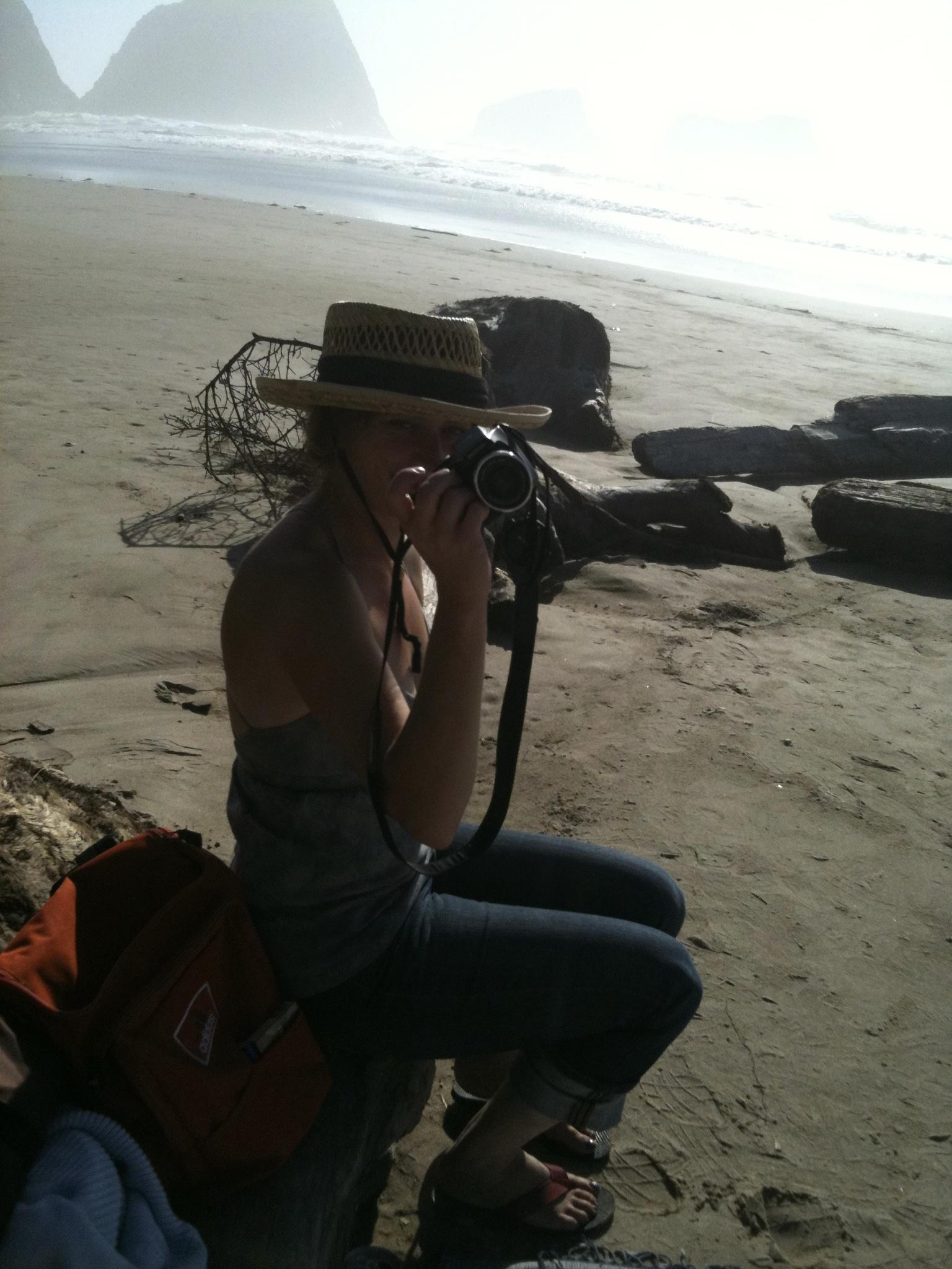 thea kuticka at the beach