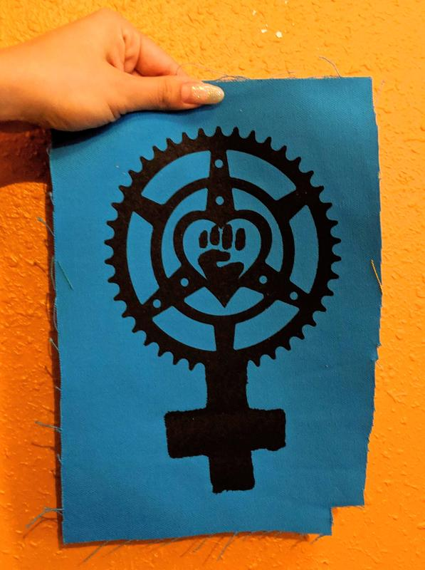 Patch #238: Feminist Chainring Fist image #1