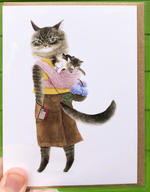 Furcoats and Backpacks Greeting Card (Keisha - with kittens)