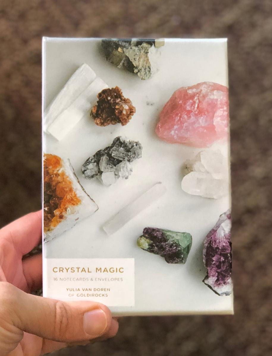 blank notecard Magic Crystal