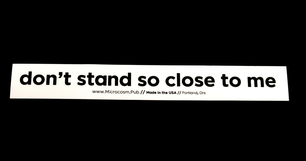 Sticker #436: Don't Stand So Close to Me