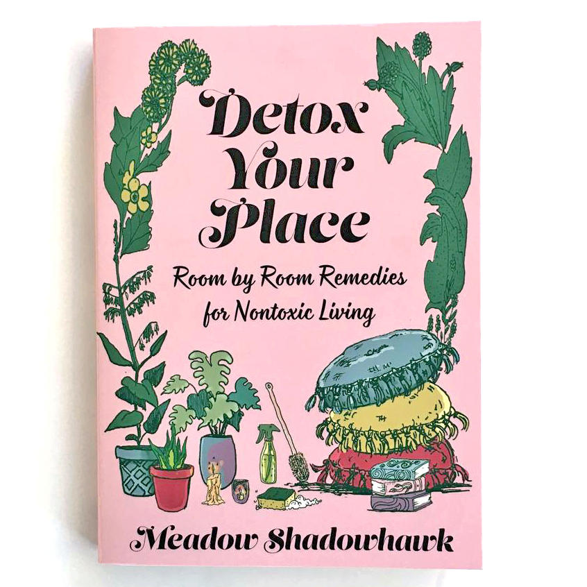 front cover showing cleaning products and plants