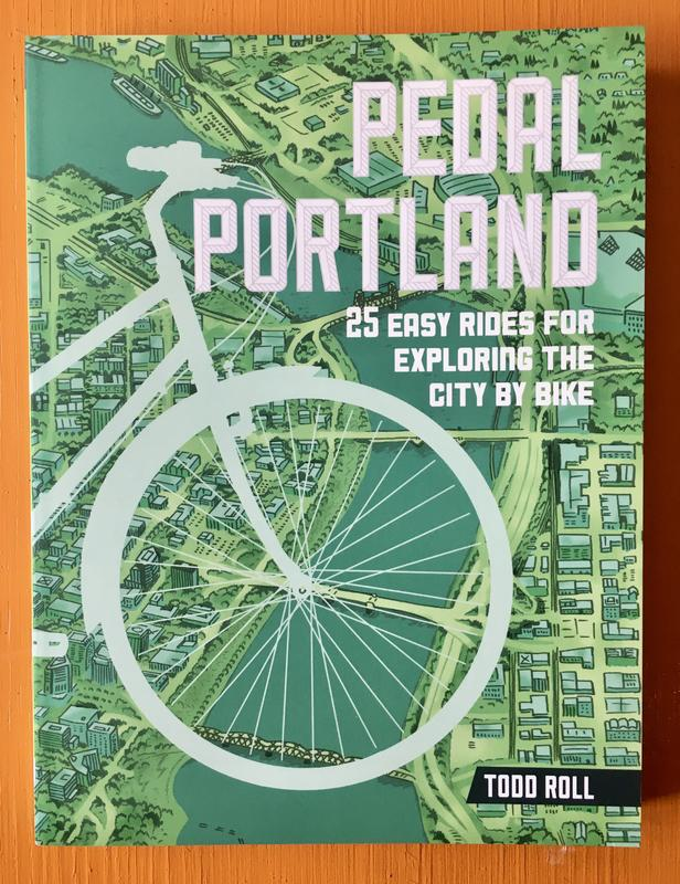 a bike superimposed on a map of portland