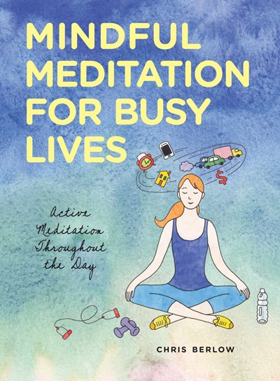 faded blue cover with illustration of person meditating