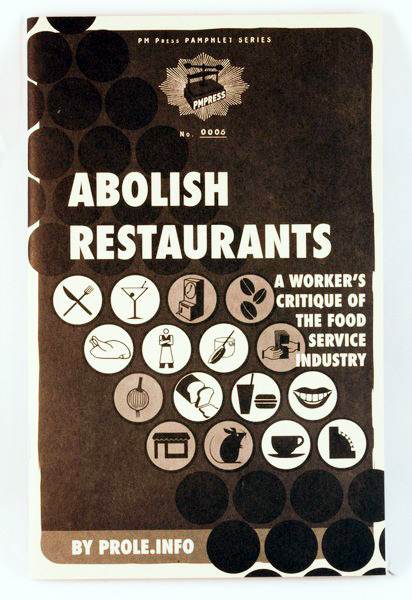 Abolish Restaurants zine cover
