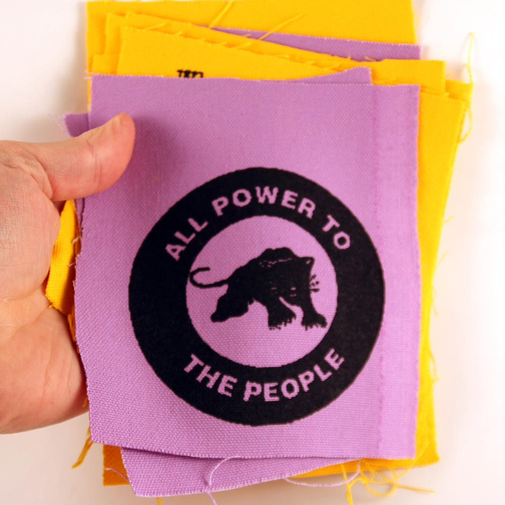 All Power to the People Black Panther canvas patch