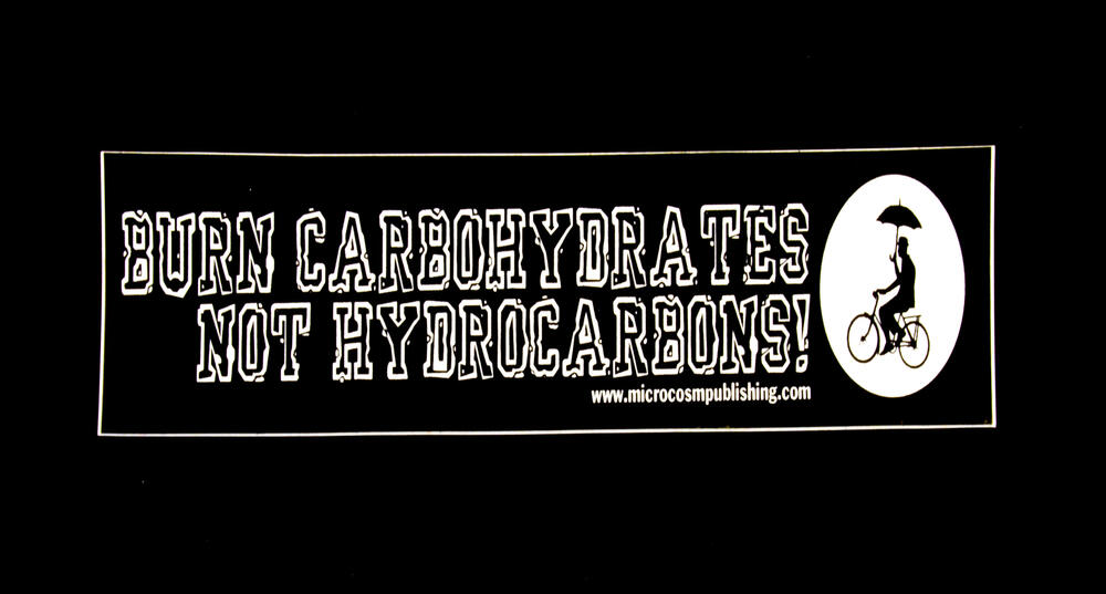 Sticker #236: Burn Carbohydrates, Not Hydrocarbons