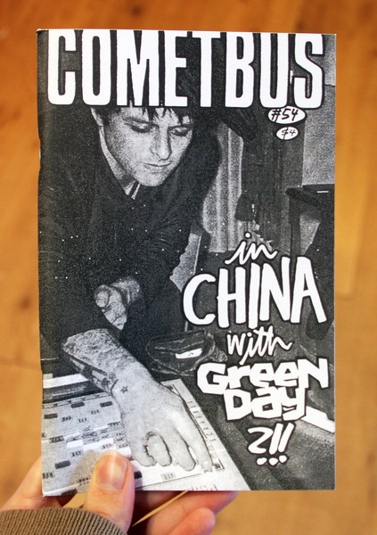 Cometbus 54 zine cover - in China with Green Day