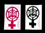 Sticker #383: Feminist Chainring Fist