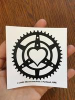 Sticker #159: Chainring Heart