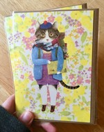 Furcoats and Backpacks greeting card (Spencer—Drawing Book)