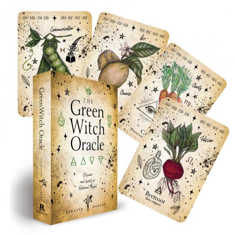 Oracle cards with plants
