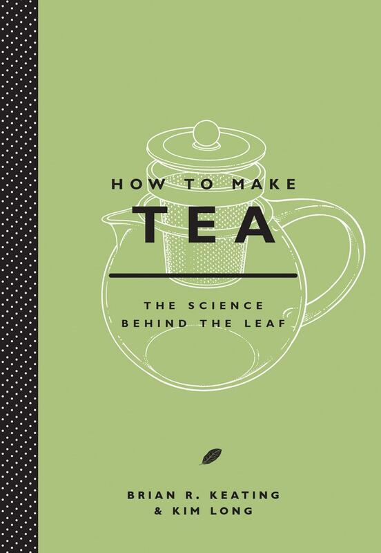 title of book superimposed a teapot