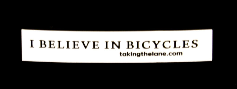 Sticker #316: I Believe in Bicycles