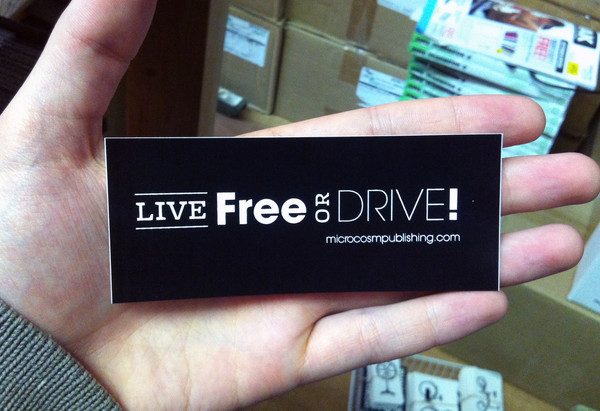 Live free or drive vinyl sticker