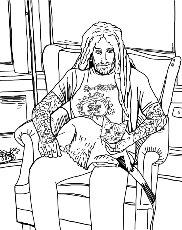 Metal Cats Coloring Book image #1