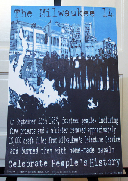 Milwaukee 14 anti-Vietnam War draft card burning protest commemorative poster