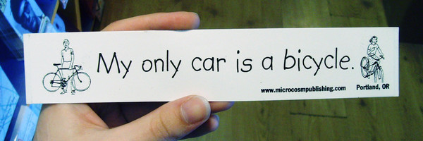 Sticker #097: My Only Car is a Bicycle