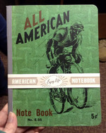 All-American Bicyclist Vintage Notebook