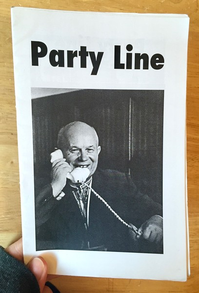 Party Line zine cover