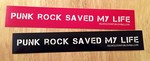 Sticker #203: Punk Rock Saved My Life