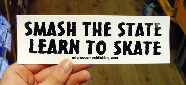 smash the state learn to skate vinyl sticker