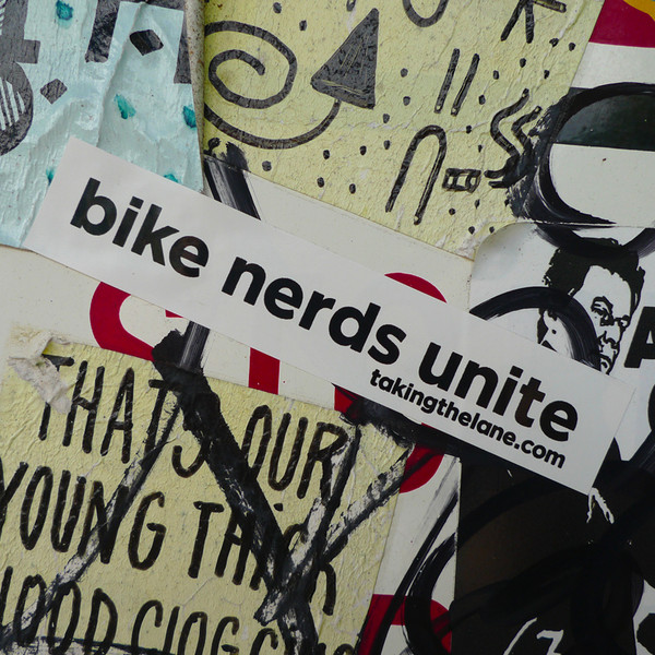 Bike nerds unite vinyl sticker