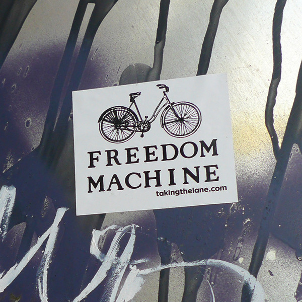 Freedom machine vinyl sticker