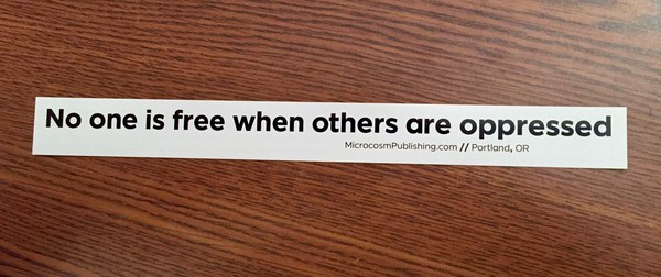 Sticker #270: No One Is Free When Others Are Oppressed