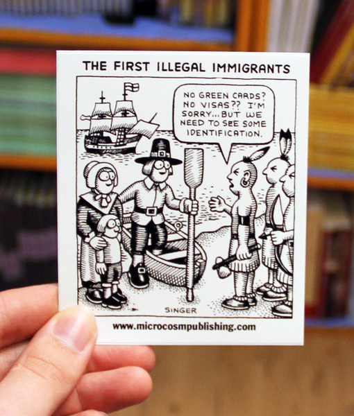 Sticker #165: First Illegal Immigrants
