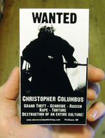 Sticker #089: Wanted: Christopher Columbus