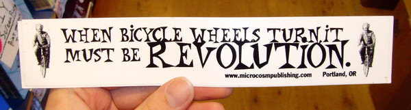 Sticker #072: When Bicycle Wheels Turn