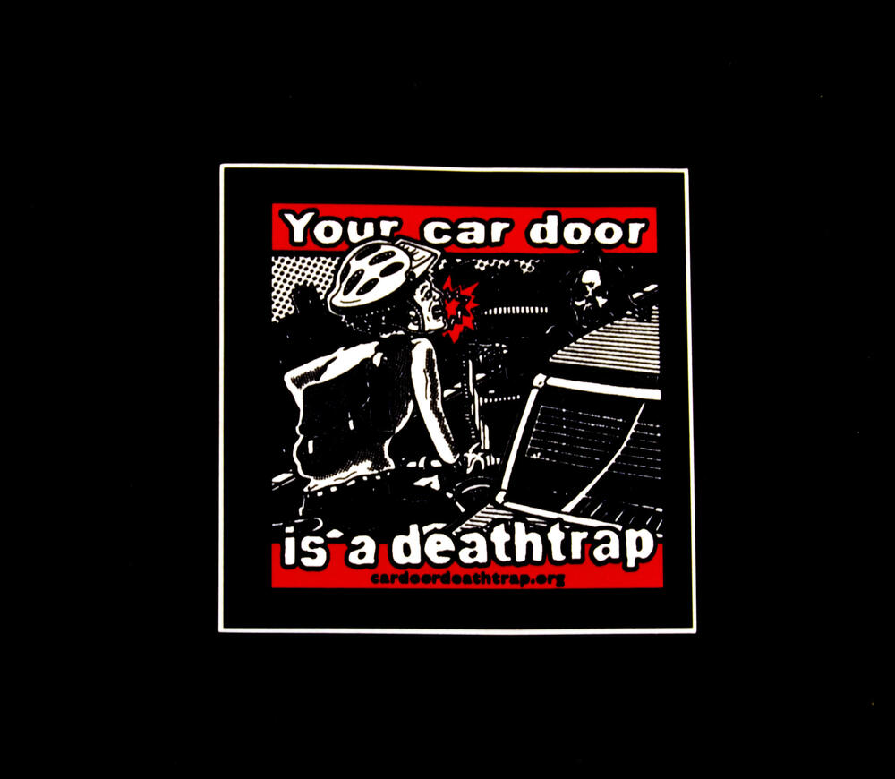 Sticker #227: Your car door is a deathtrap